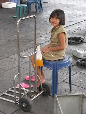 am Expressboat-Pier - (Thailand, Bangkok, alleine)
