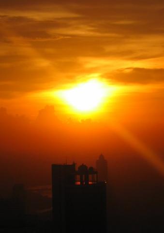 Sonnenuntergang - (Thailand, Bangkok, alleine)