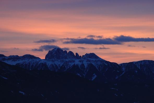 Abendstimmung - (Winter, Sport, Ski)