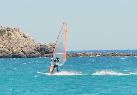 Windsurfer bei sagres - (Portugal, Surfen, Algarve)
