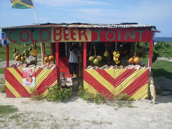 Das war am Strassenrand zwischen Montego Bay und Negril - (Wetter, Jamaika)