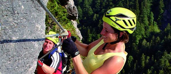 Hier noch ein Bild vom Klettern mit der Klettersteigschule - (Deutschland, Berge, Allgäu)