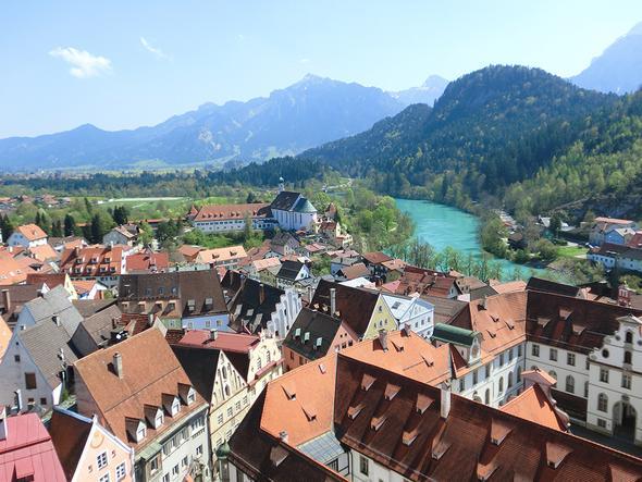 Blick vom Hohen Schloss - (Deutschland, Bayern, Allgäu)