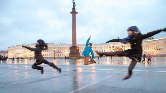 St. Petersburg, Schlossplatz - (Sehenswürdigkeiten, Russland, St-Petersburg)