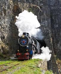 Urstrecke der Transsibirischen Eisenbahn bei Port Baikal / Baikalsee - (Sehenswürdigkeiten, Russland, St-Petersburg)