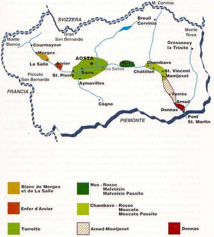 Die Anbaugebiete im Aostatal - (Italien, Reise, Urlaub)