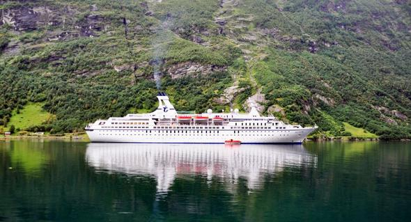 Norwegen mit den Schiff - (Kreuzfahrt, Route)