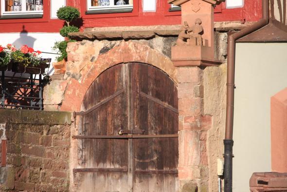 Hier der Kellereinhang  - (Deutschland, Anreise, Wirtshaus im Spessart)