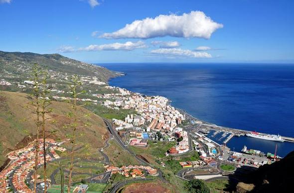 Blick auf Santa Cruz de La Palma - (Kreuzfahrt, Kanaren)