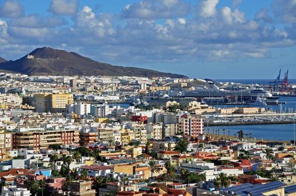 Blick auf Las Palmas - (Kreuzfahrt, Kanaren)