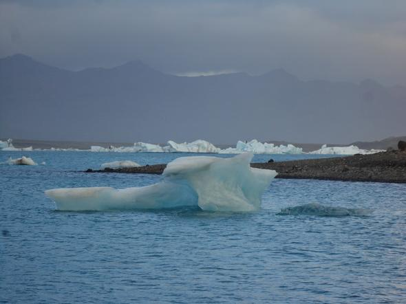 Glacier lagoon - (Backpacker, Island, Backpacking)