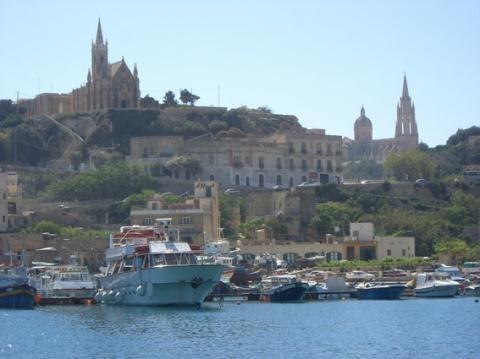 Anfahrt auf Gozo - (Insel, Malta, mieten)