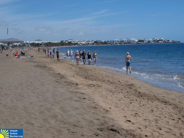 Strand in Puerto del Carmen, Lanzarote - (Hotel, Spanien, Urlaub)