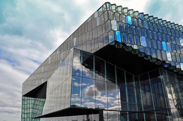 Die neue Musikhalle von Rekjavik /Island - (Sehenswürdigkeiten, Island, Hauptstadt)