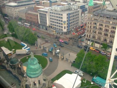 Belfast vom Riesenrad aus - (Sehenswürdigkeiten, Städtereise, Irland)