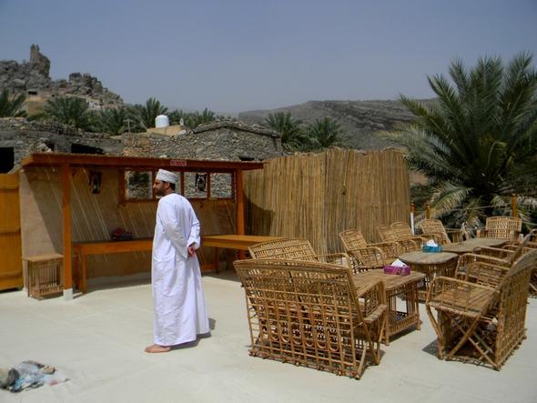 Terrasse des B&B in Misfah - (Hotel, Muscat)