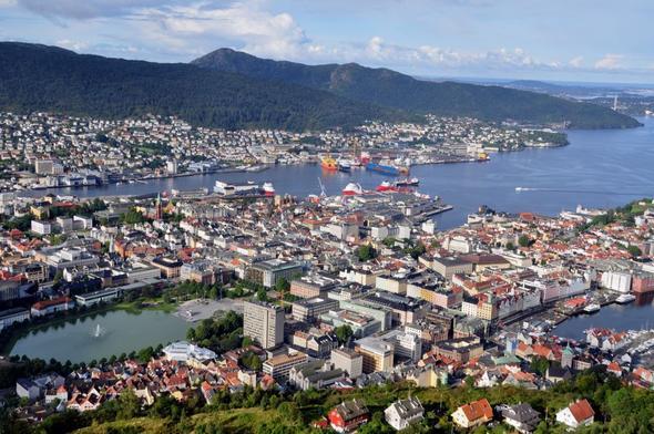 Blick auf Bergen - (Städtereise, Norwegen)