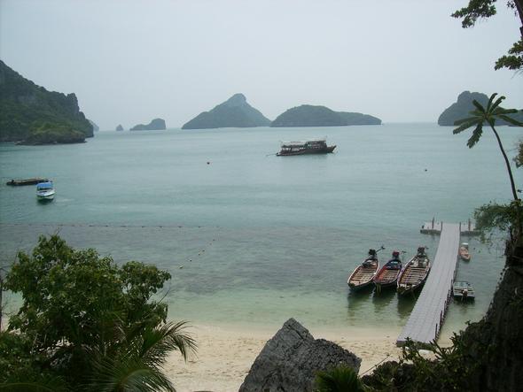 Koh Angthong vom höchsten Punkt aus - (Thailand, Tour, Ferien)