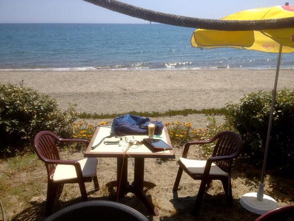 """Mein """"Schreibtisch"""" auf Korsika....  - (München, Sommerurlaub, Memmingen)"""