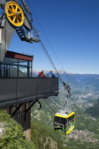 Aussicht von der Bergstation der Texelbahn Partschins - (Italien, Reiseziel, Pension)