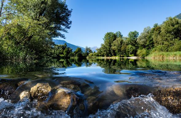 Biotop Rabland, Partschins, direkt am Etschradweg der Via Claudia Augusta - (Italien, Reiseziel, Pension)