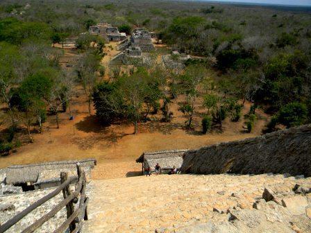 Aussicht von der großen Pyramide in Ek Balam - (Ausflug, Mexiko, Tipps)