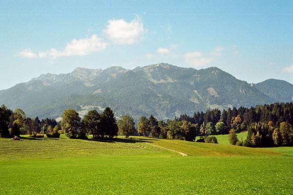 Blick zum Brauneck/Lenggries - (Bayern, Wellness, Hoteltipp)