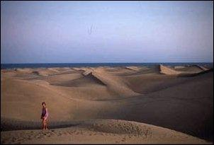Die Dünen von Maspalomas auf Gran Canaria - (Urlaub, Kanaren, Teneriffa)