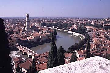 Aussicht auf Verona - (Italien, Busreise, Verona)