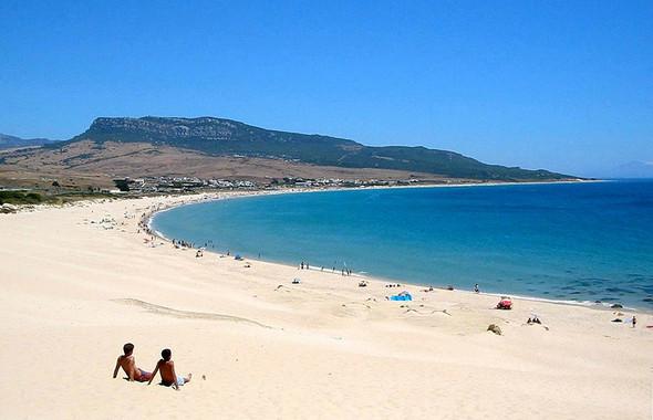 Schöner Und Ruhiger Strand Im Süden Spaniens Spanien
