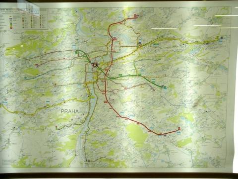 Metroplan von Prag - (Reiseziel, Zug, Autoreise)