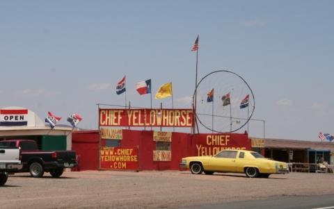 Chief Yellow Horse - (USA, Besuch, Indianerreservat)