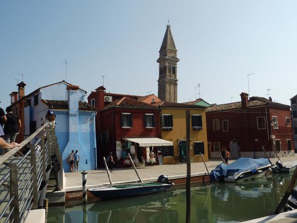 Der schiefe Turm von Burano - (Venedig, Reisetipps, Gondel)