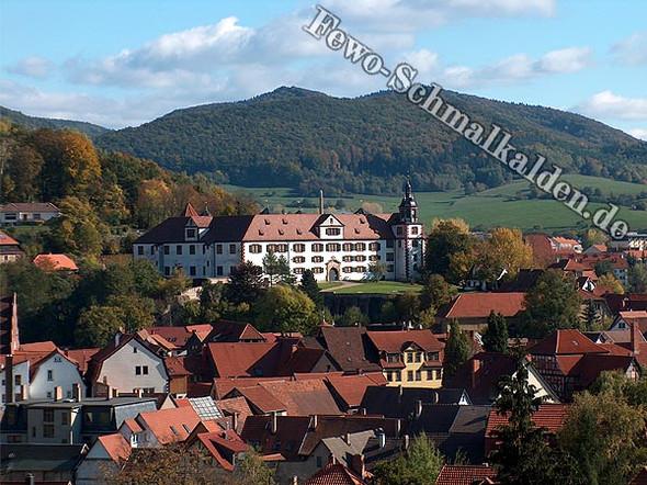 Die Wilhelmsburg in Schmalkalden aus der Fewo der Fam. Trollmann geknipst - (Deutschland, Schlossbesichtigung, Schloessertour)