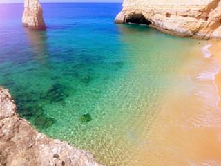 Badebucht bei Carvoeiro - (Reiseziel, Portugal, Urlaubstipps)