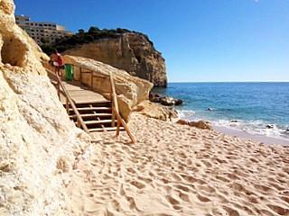 Centianes Strand bei Carvoeiro - (Reiseziel, Portugal, Urlaubstipps)