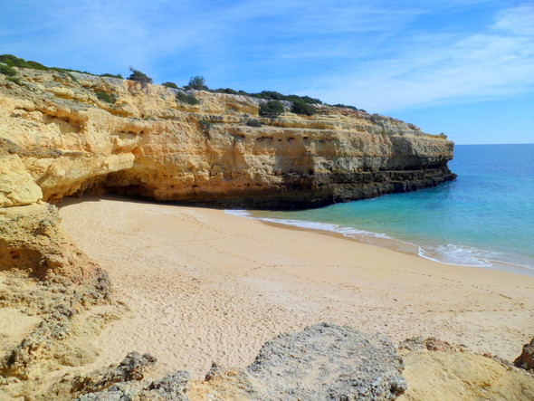 Albandeira Strand bei Carvoeiro - (Reiseziel, Portugal, Urlaubstipps)