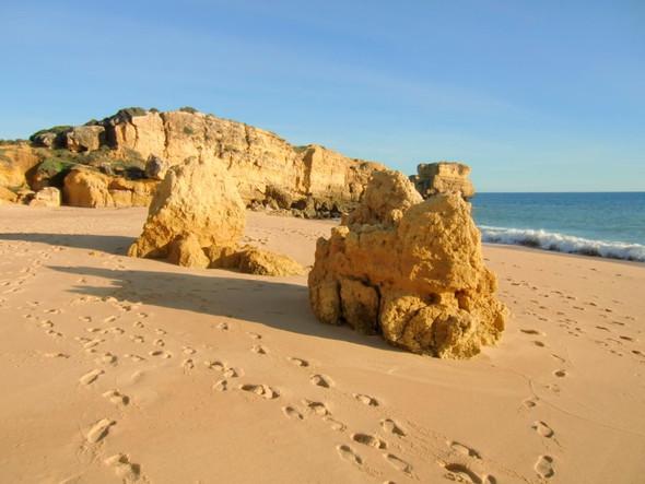 Sao Rafael Strand bei Albufeira - (Reiseziel, Portugal, Urlaubstipps)
