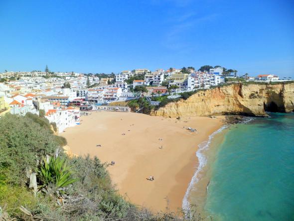 Haupstrand von Carvoeiro - (Reiseziel, Portugal, Urlaubstipps)