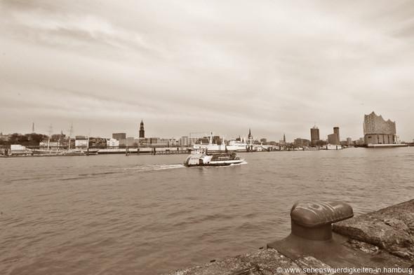 Hafenblick von der Elbseite Steinwerder - (Hamburg, Besuch)