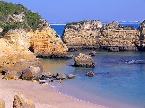 Steilküste bei Lagos - (Wandern, Portugal, Algarve)