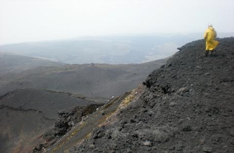Vulkan Krater auf dem Mount Kamerun - (Afrika, Rucksackreise, Kamerun)