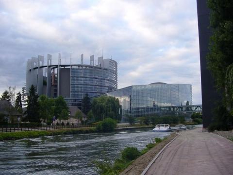 Europäisches Parlament in Straßburg - (Frankreich, Elsass, Stadtrundfahrt)
