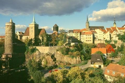 Blick auf Bautzen - (Reise, Sehenswürdigkeiten, Stadt)