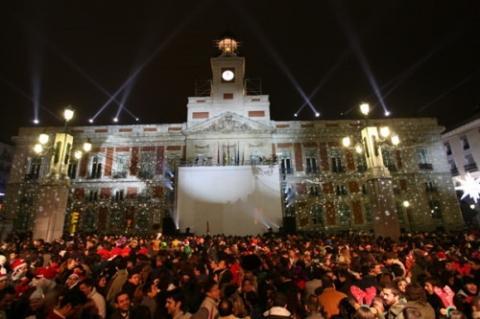 Silvester an der Puerta del Sol in Madrid - (Europa, Spanien, Silvester)