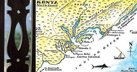 Karte Lamu - (Insel, Afrika, Kenia)