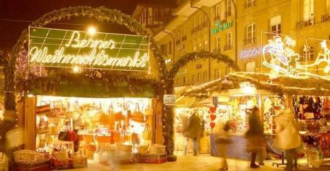 Berner Weihnachtsmarkt - (Europa, Städtereise, Stadt)