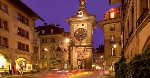 Zytgloggeturm in der Berner Altstadt - (Europa, Städtereise, Stadt)