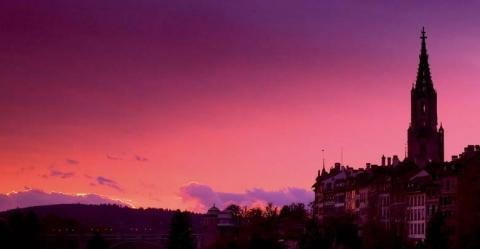 Abendstimmung in Bern - (Europa, Städtereise, Stadt)