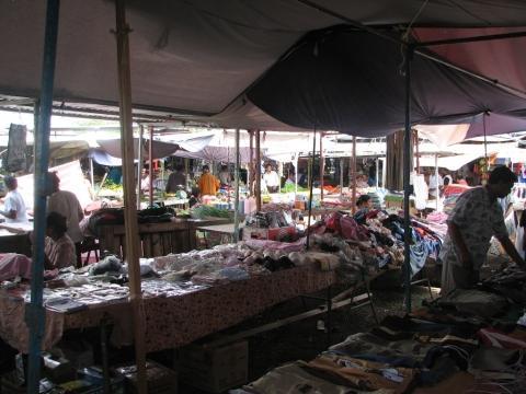 Markt in Centre de Flacq - (Insel, Markt, Indischer Ozean)